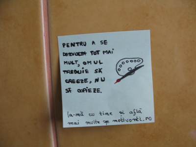 Post-it motivaţional: Creează!