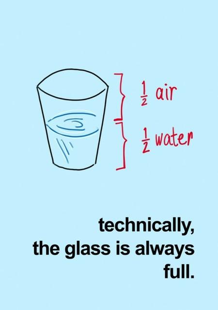 Paharul e mereu plin... dacă vrei!