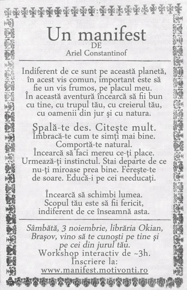 Manifest - 3 noiembrie - Braşov