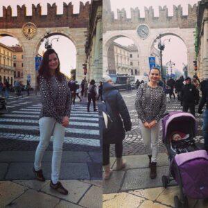 In Verona cu si fara bebe :)